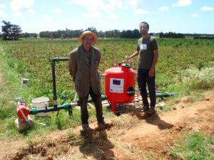 Farmers in Tunisia, involved in the previous ACCBAT project